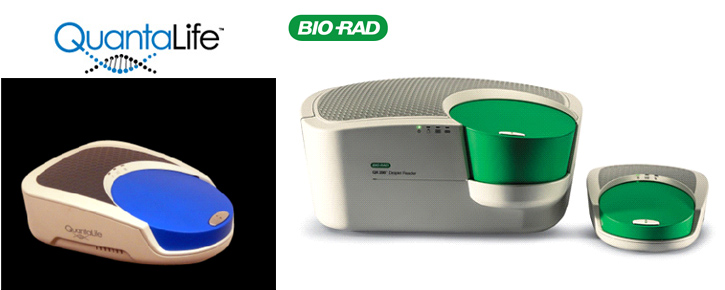 Examples of QuantaLife and Bio-Rad devices