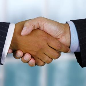 Stock Image of a hand shake