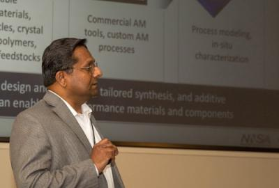 Lawrence Livermore National Laboratory's Associate Director in Engineering Anantha Krishnan described Lab breakthroughs in advanced manufacturing that could impact the commercial sector, including novel micro-architected and hierarchical materials and advancements in 3D printing processes