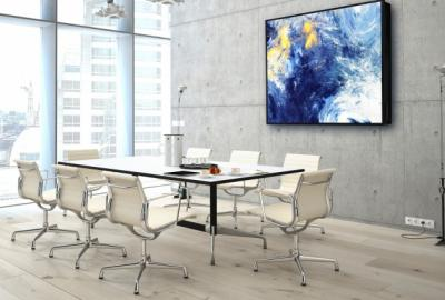 Meeting room with wall art